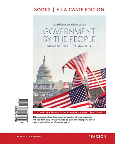 9780134114033: Government by the People, 2014 Elections and Updates Edition, Books A La Carte Plus NEW MyPoliSciLab for American Government -- Access Card Package (25th Edition)