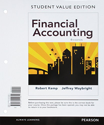 9780134114811: Financial Accounting, Student Value Edition (4th Edition)