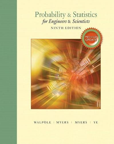 9780134115856: Probability & Statistics for Engineers & Scientists, MyLab Statistics Update (9th Edition)