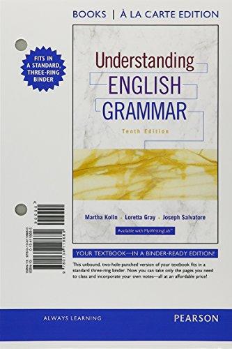 9780134118680: Understanding English Grammar, Books a la Carte Edition (10th Edition)