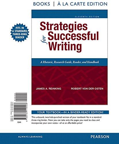 9780134119403: Strategies for Successful Writing, Books a la Carte Edition (11th Edition)