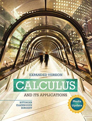 9780134122588: Calculus and Its Applications Expanded Version Media Update