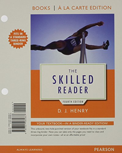 9780134122731: The Skilled Reader, Books a la Carte Edition Plus MyLab Reading with eText - Access Card Package