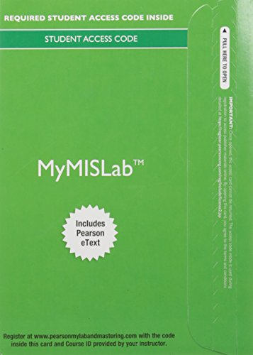 9780134124094: MyLab MIS with Pearson eText -- Access Card -- for Using MIS
