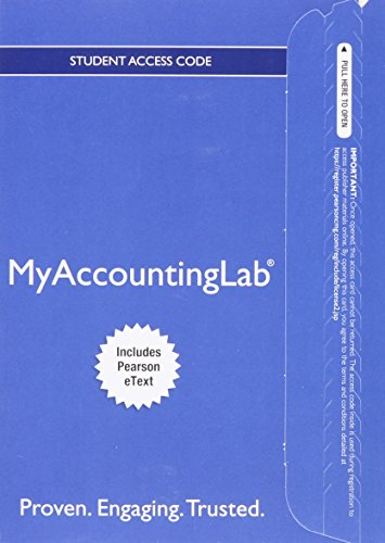 9780134124162: MyLab Accounting with Pearson eText -- Access Card -- for Prentice Hall's Federal Taxation 2016 Corporations, Partnerships, Estates & Trusts