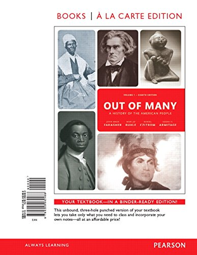 9780134126869: Out of Many: A History of the American People, Volume 1, Books a la Carte Edition Plus NEW MyHistoryLab for US History -- Access Card Package (8th Edition)