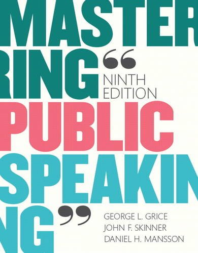 9780134127088: Mastering Public Speaking Plus NEW MyCommunicationLab for Public Speaking -- Access Card Package (9th Edition)