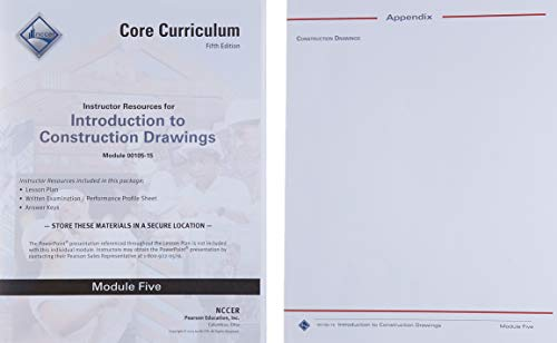 9780134129044: 00105-15 Introduction to Construction Drawings Instructor Guide