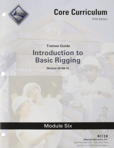 9780134129051: 00106-15 Basic Rigging Trainee Guide