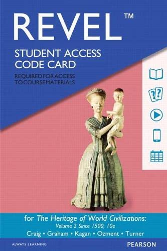 9780134130910: Revel - Access Card - For the Heritage of World Civilizations: Volume 2
