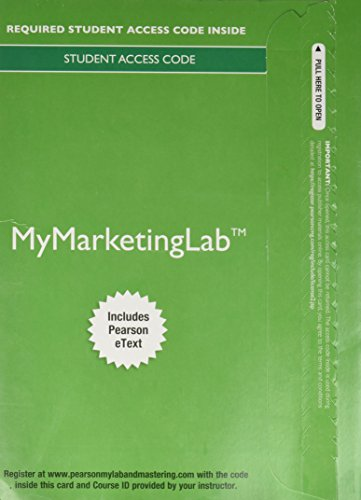 9780134132358: Mymarketinglab with Pearson Etext -- Access Card -- For Marketing: An Introduction