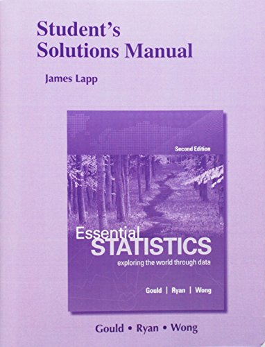 9780134133126: Student's Solutions Manual for Essential Statistics