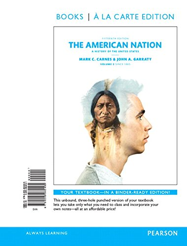 9780134138442: The American Nation: A History of the United States, Volume 2, Books a la Carte Edition Plus Revel -- Access Card Package