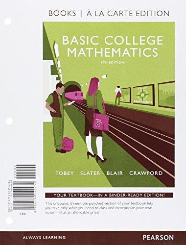 9780134142432: Basic College Mathematics, Books a la Carte Edition (8th Edition)