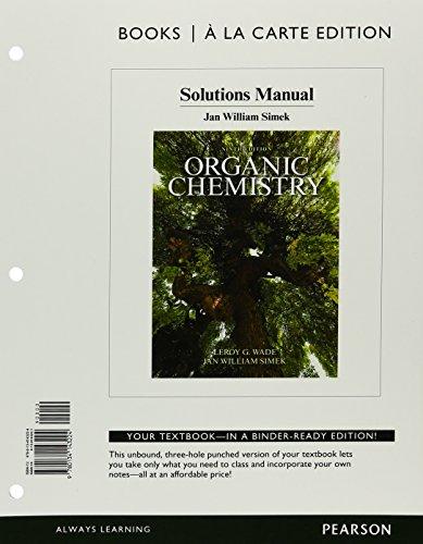 Advanced organic chemistry solutions Manual