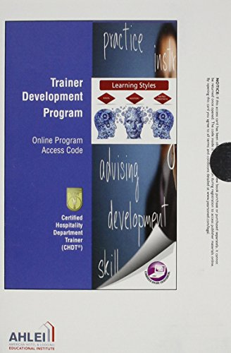 9780134144986: Skills Training: Certified Hospitality Department Trainer