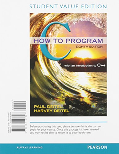 9780134147307: C How to Program, Student Value Edition (8th Edition)