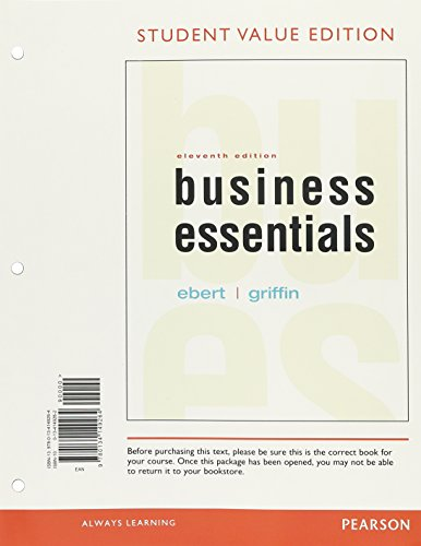 9780134149264: Business Essentials, Student Value Edition (11th Edition)
