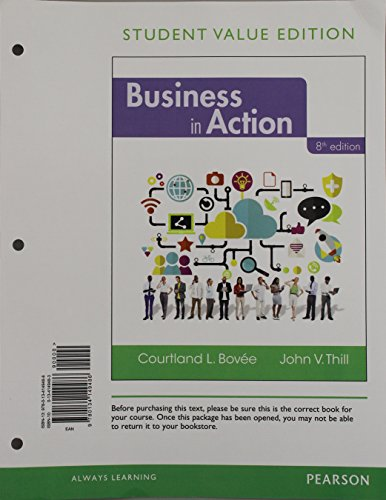 9780134149486: Business in Action, Student Value Edition (8th Edition)