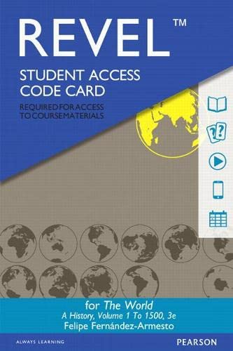 9780134150499: Revel - Access Code Card - For the World: Volume 1: A History