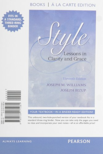 9780134150567: Style: Lessons in Clarity and Grace, Books a la Carte Edition Plus Mywritinglab with Pearson Etext -- Access Card Package