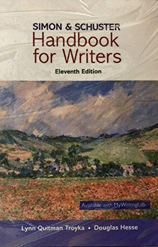 9780134150697: Simon & Schuster Handbook for Writers, Books a la Carte Edition (11th Edition)
