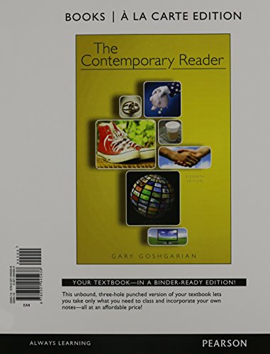 The Contemporary Reader 11th Edition