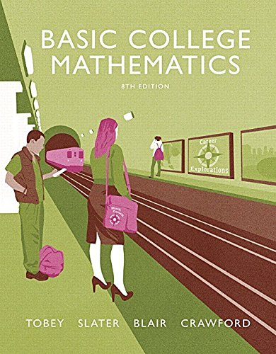 9780134153476: Basic College Mathematics 8th Edition by Tobey (Book Only)