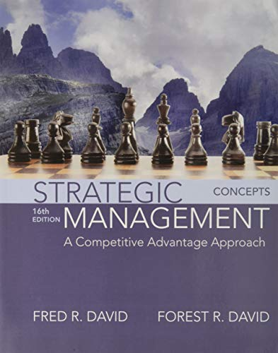 9780134153971: Strategic Management: A Competitive Advantage Approach, Concepts