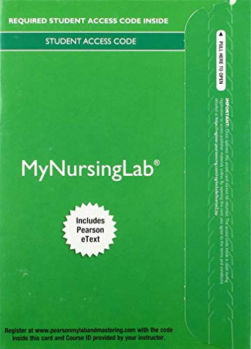9780134160757: MyNursingLab with Pearson eText -- Access Card -- for Health & Physical Assessment In Nursing