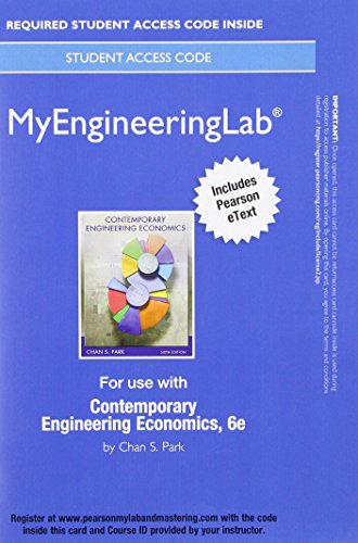 9780134162676: MyLab Engineering with Pearson eText -- Standalone Access Card -- for Contemporary Engineering Economics