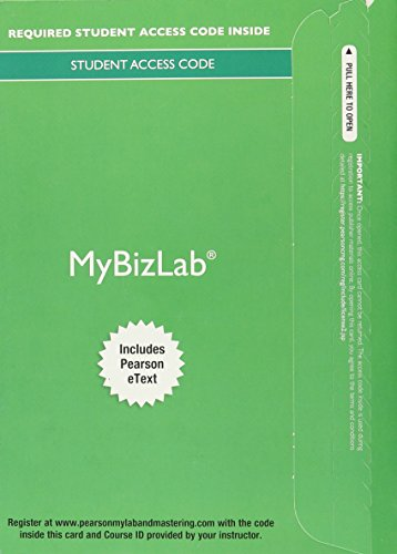 9780134167084: MyBizLab with Pearson eText -- Access Card -- for Business Essentials