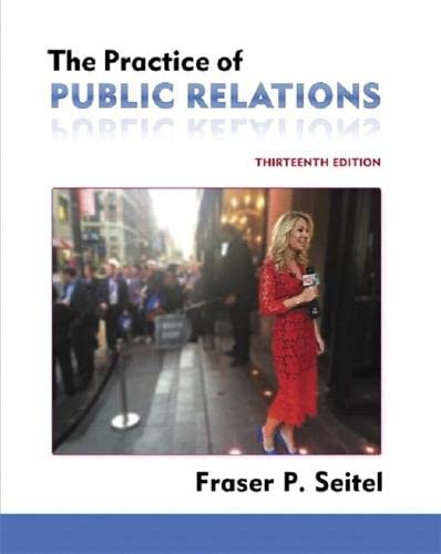 9780134170114: The Practice of Public Relations (13th Edition)
