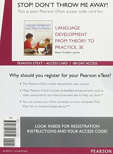 Language Development From Theory to Practice, Enhanced: Pence Turnbull, Khara