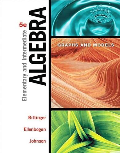 9780134172408: Elementary and Intermediate Algebra: Graphs and Models (5th Edition)