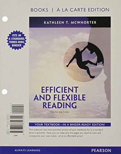 9780134175522: Efficient and Flexible Reading, Books a la Carte Plus MyReadingLab with eText -- Access Card Package (10th Edition)