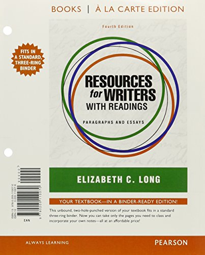 Resources for Writers with Readings, Books a la Carte Plus MyWritingLab with eText -- Access Card ...
