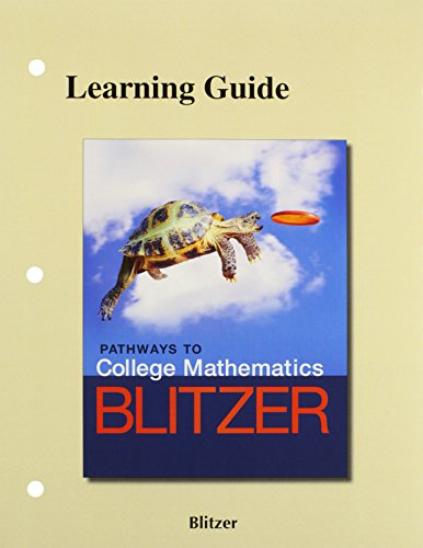 9780134175720: The Learning Guide for Pathways to College Mathematics