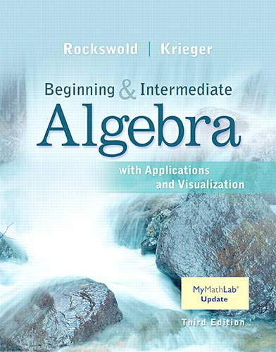 9780134175898: Beginning and Intermediate Algebra with Applications & Visualization MyMathLab Update with eText -- Access Card Package (3rd Edition)