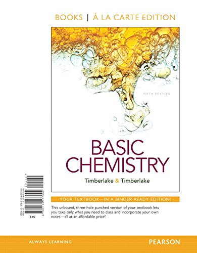 9780134177090: Basic Chemistry, Books a la Carte Edition (5th Edition)