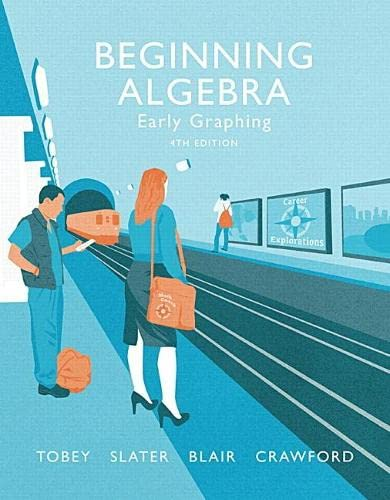 Beginning Algebra: Early Graphing (4th Edition): Jamie Blair; Jeffrey Slater; Jennifer Crawford; ...