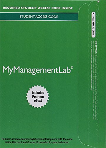 9780134182186: MyLab Management with Pearson eText -- Access Card -- for Organizational Behavior