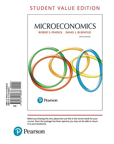 Microeconomics, Student Value Edition (9th Edition): Robert Pindyck