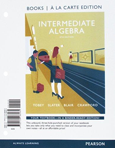 9780134188485: Intermediate Algebra, Books a la Carte Edition (8th Edition)