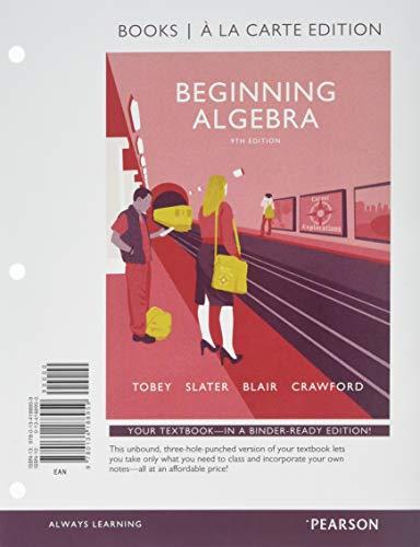 9780134188959: Beginning Algebra, Books a la Carte Edition (9th Edition)