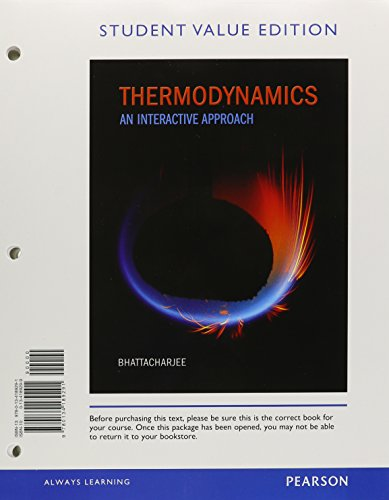 9780134189291: Thermodynamics: An Interactive Approach, Student Value Edition