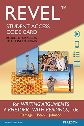 REVEL for Writing Arguments Format: PrintedAccessCode