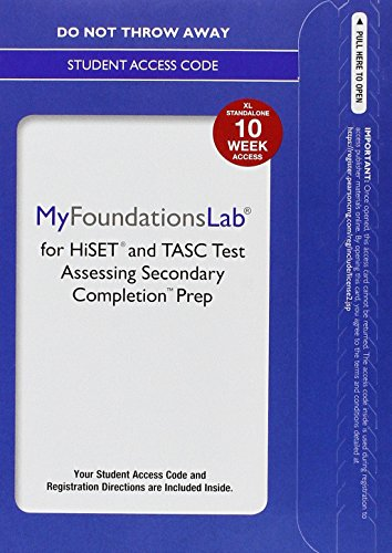 9780134195285: Myfoundationslab Without Pearson Etext for Hiset and Tasc Prep--Standalone Access Card--10 Weeks