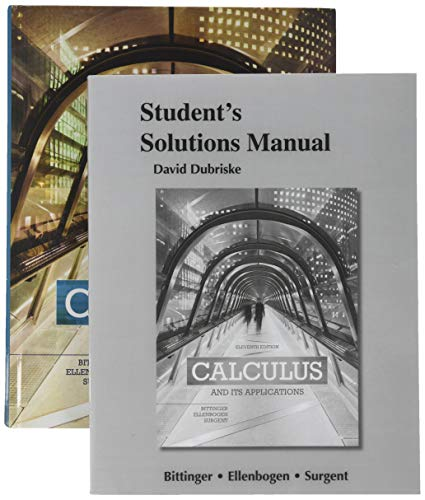 9780134195353: Calculus and Its Applications; Student Solutions Manual; MyLab Math Inside Star Sticker (11th Edition)