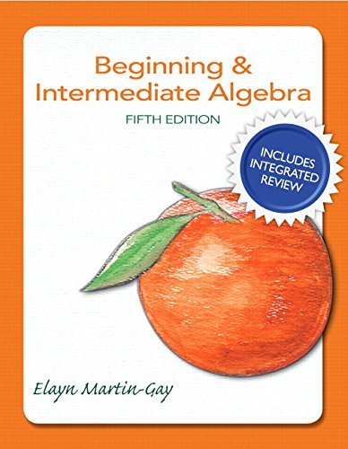 9780134195827: Beginning & Intermediate Algebra Plus New Integrated Review Mymathlab and Worksheets-Access Card Package